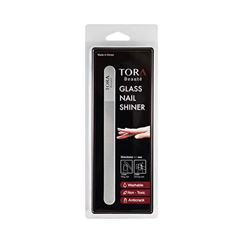 TORA Beauté - Glass Nail Shiner, Nail File, Nail Buffer, Nail Polish, Natural Nail Care (Long Version Clear)