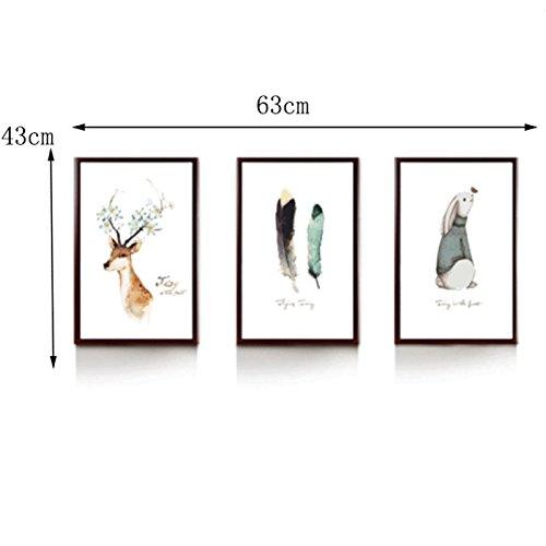 HBWJSH Fotowand kreative Kombination Fotorahmen Wand Wohnzimmer hängende Fotowand Restaurant ohne Nägel hängen Wand 43cm * 63CM (Farbe : B4 Group)