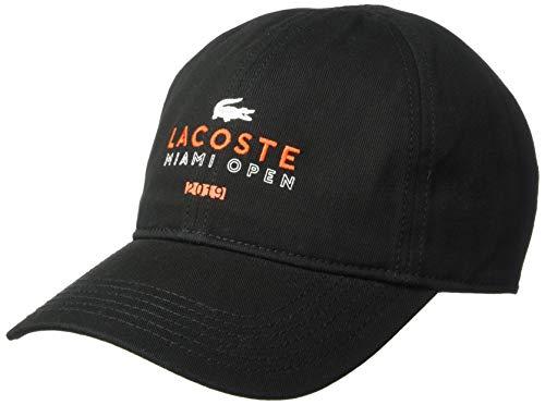 Lacoste Men's Sport Miami Open Edition Logo Cap, Black, S/M