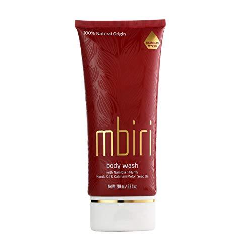 Mbiri Gel de ducha, cosmética natural con aceite de Marula y mirra - cuidado natural orgánico para...