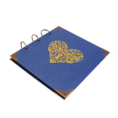 BESPORTBLE 1 Unid Álbum de Fotos de Aro de Hierro Álbum de Recortes DIY Álbum Hecho a Mano Regalo DIY Carpeta de Libros de Fotos Titular de La Carpeta para Pareja Amigos
