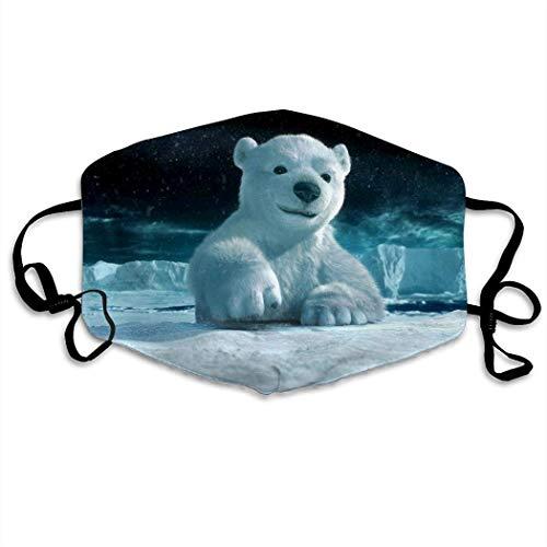 Eisbär Männer Frauen Atmungsaktive Komfortable Gesichtsschutzhülle mit Gummiband für die persönliche Gesundheit Verschiedene Anwendungen