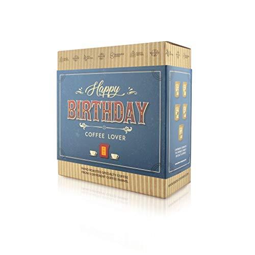 Geburtstags Kaffee Geschenk Box, 5 Stk Coffeebrewer mit Spezialitäten-Kaffee | ideale Geschenkidee für Kaffee-Liebhaber | 5 verschiedenen Kaffeesorten aus aller Welt