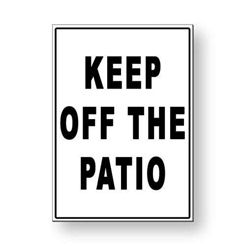 Générique Panneau en métal Keep Off The Patio Keep Out Warning Swimming MS032