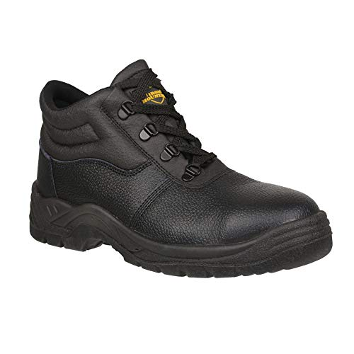 Iron Mountain Men's Waterproof Work and Utility Safety Boots With Steel Toe Cap and Protective Midsole Workwear Safety Shoe Boot S3 SRC, Black, UK 11 / EU 45