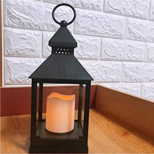 Platz Europäischen kerze Laterne Windlicht LED Kerze Batterie Garten Laterne Hochzeit Geburtstag Hotel Dekoration (ohne batterie)