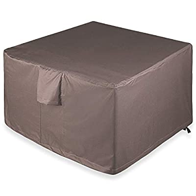 """Leader Accessories Full Coverage Square Fire Pit/Bistro Table Cover Heavy Duty & Waterproof Fabric (40"""" L x 40"""" W x 22"""" H)"""