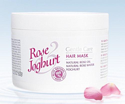 Bulgarska Rosa/rose Joghurt/Haarmaske 220 ml mit Rosenöl, Rosenwasser und Joghurt