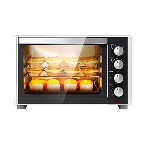 XIAOJIAN 35L Mini horno Temperatura ajustable 0-230  Y 120 minutos Tiempo de horneado de tres capas Horneado para el hogar Horno eléctrico automático multifuncional para hornear pasteles y pizza con