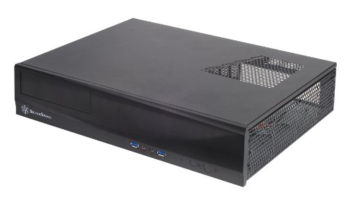 SilverStone Technology Milo Series Aluminum/Steel Micro-ATX Media Center/HTPC Case, Black ML03B-USA, Model Number: SST-ML03B-USA