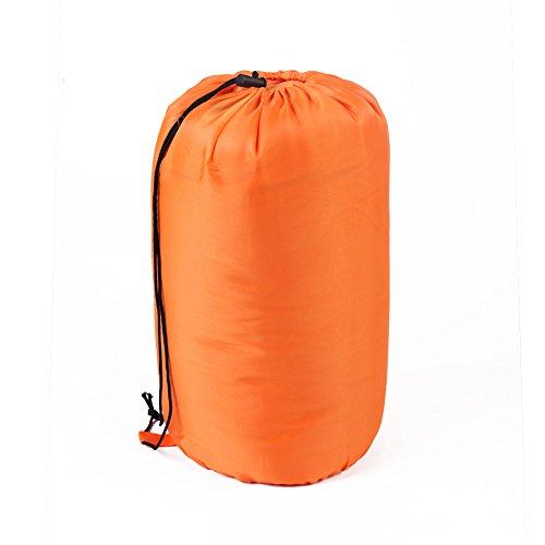 CONMING Sac de couchage étanche Confortable avec capot et sac de compression Léger Portable 3-4 saison pour le camping Randonnée Activités de plein air (Orange)