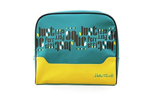 Trousse voyage unisexe vert et jaune