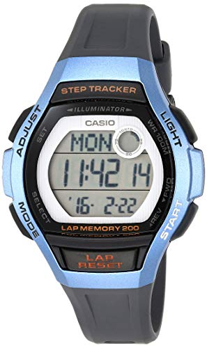 Casio Women's Runner Quartz Running Watch with Resin Strap, Black, 19.3 (Model: LWS-2000H-2AVCF)