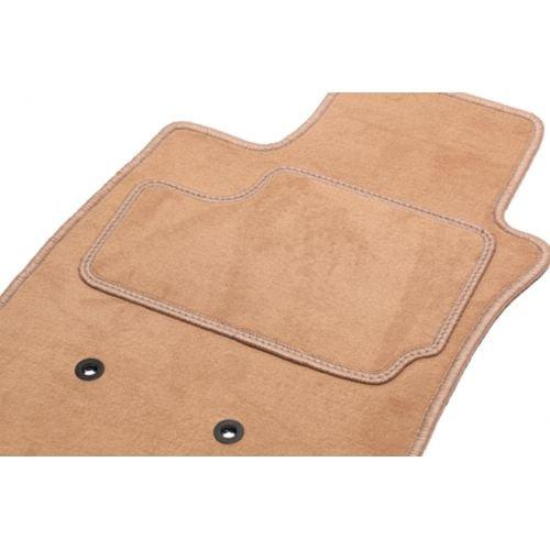 Fußmatten für 207 CC Cabriolet (von 2007 – ce Tag) Arriere in 2 Teilen – 1 Kofferraumwanne – Beige – Teppich Tuft, l Optik Velours – 550 g/m2 + Stoffwindel – hochwertige Qualität