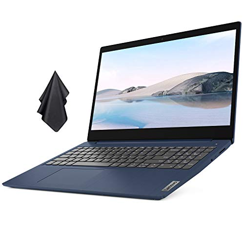 """2021 Newest Lenovo IdeaPad Laptop, 15.6"""" FHD Display, AMD Ryzen 5 4500U 6-Core Processor (Beats i7-1165G7), 20GB RAM, 1TB SSD, Webcam, Bluetooth, HDMI, Win 10, Abyss Blue + Oydisen Cloth"""