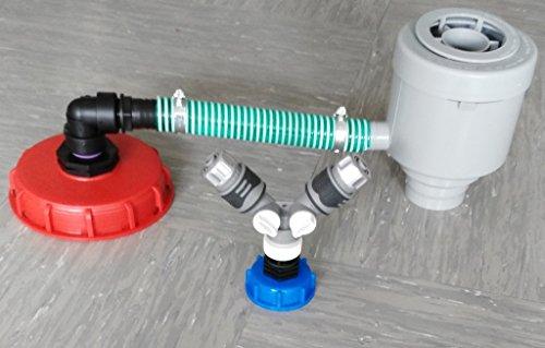 CMGG21DK150R13599Y2146S GRAF Garantia Filtre tuyau de descente avec tuyau, colliers de serrage, raccord de tuyau, coude, réduction + capuchon à visser 150 mm Distributeur en Y + raccord rapide 1/2\