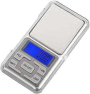 Báscula Digital de Precisión, Rango de Pesaje de 0,1g a 500g, Balanza Portátil