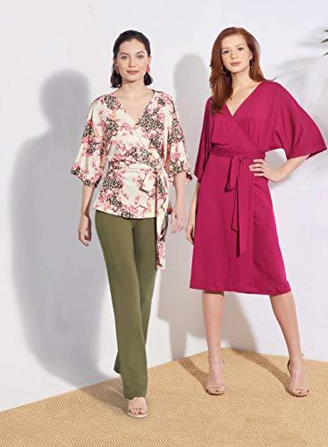 Simplicity S8925 gebreide broek voor dames, rokken, jurken en wikkels, papier, wit, verschillende kleuren