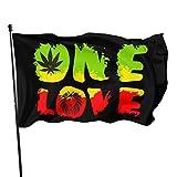 Viplili Flagge/Fahne, Weather Resistant Rastafari - Grunge One Love Lion Garden Flag, Demonstration Flag - 3 X 5 Ft