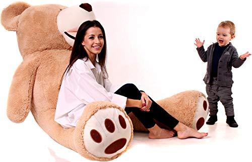 Riesen Teddybären 200cm - Teddybär Groß Baby Kuscheltiere - Kuscheltier Für Babys - Plüschtier Teddy Bär - Geschenk Freundin, Geschenkideen Zum Geburtstag, Kinder, Geschenke Zum Jahrestag - Braun