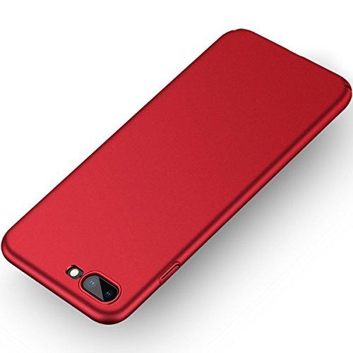 Aollop Hülle für iPhone 7 Plus/iPhone 8 Plus,Ultra Dünn Staubschutz,Anti-Kratz Schutzhülle, Federleicht Hülle Bumper Cover Schutztasche Schale Hülle für iPhone 7 Plus/iPhone 8 Plus(5.5 Zoll-Rot)