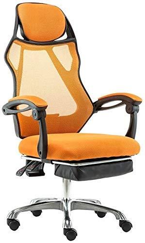 TTZY Silla de ordenador con respaldo alto de tela para juegos con reposapiés Ejecutivo y ergonómico silla giratoria altura ajustable reclinable silla de oficina para oficina sala de reuniones SHIYUE