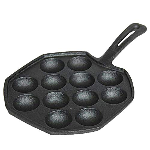 IUYJVR Panqueques porosos para Muffins Sartén para Hornear gofres Bolas Fritas Huevo de codorniz Olla para el Desayuno Cocina a Gas Grill Pan Maker, 24 cm (Color: 24 cm)