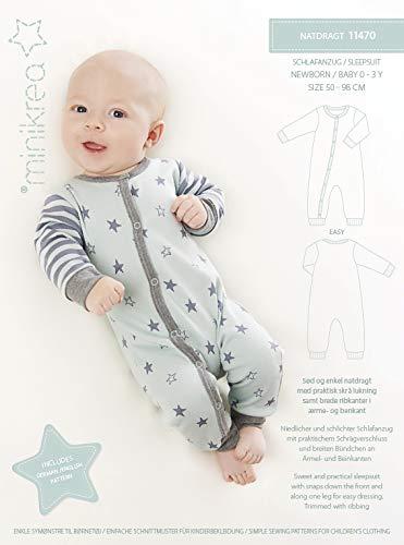 MAGAM-Stoffe Schlafanzug Schnittmuster Neugeborene und Babys inkl. Aufnäher Enno