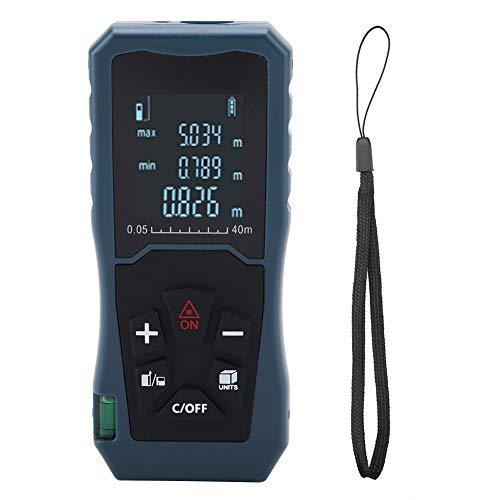 Localizador de alcance a laser fita, tela de exibição HD com armazenamento de dados digital Telêmetro a laser, ferramenta de medição de distância fácil de operar Página inicial para medição(JP40)