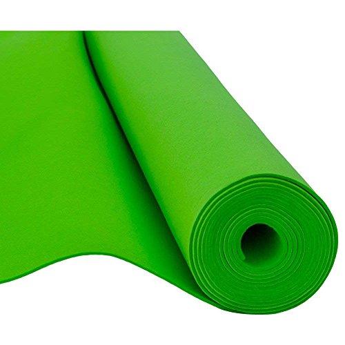 SOFT Filz, Filzstoff, Dekorationsfilz, Weicher Filz, Breite 150cm, Dicke 3mm, Meterware 0,5lfm - grün