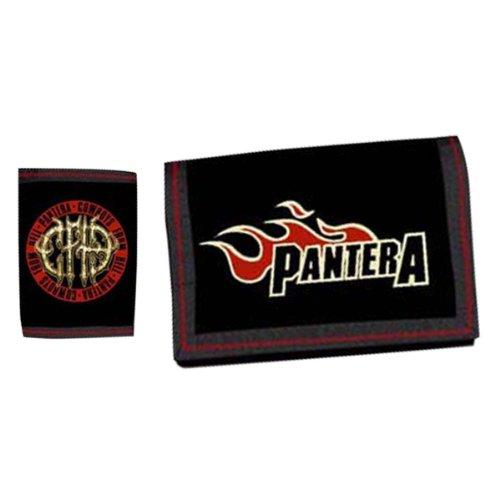 Pantera - Black Suede Velcro Wallet Velcro Wallets