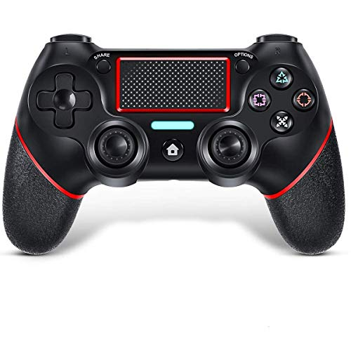TUTUO Wireless Controller für P-4, Bluetooth Game Controller Gamepad Joypad Joystick,Touchpanel Spielbrett mit Dual Vibration und Audiofunktionen