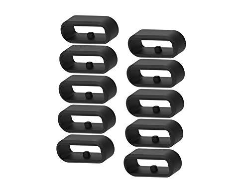 Chofit Ersatz-Ringe, kompatibel mit Garmin Vivoactive 3 Music & Vivoactive 3 Smartwatch-Armband, Silikon, Verbinder, Halterung, Armband, Sicherheitsschlaufe, Schwarz