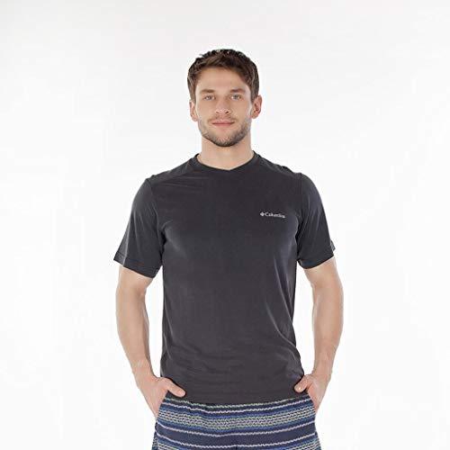 Columbia Sun Ridge Homme T-Shirt Manches Courtes, Zinc, FR : S (Taille Fabricant : S)