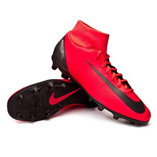 Chuteira Nike Botinha Campo Superfly 6 Club Cr7 Fg Tamanho:41;Cor:Vermelho