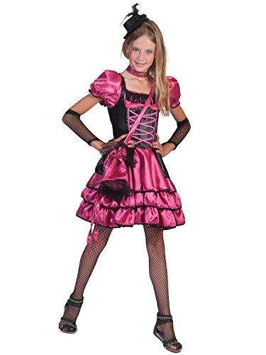 Funny Fashion Disfraz cabaret rosa y negro nia