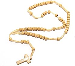JINKEBIN kettingen Jezus Saint Benedict Beaded Ketting Voor Mannen Vrouwen Katholieke Christus Cross Houten Bead Hanger Ch...