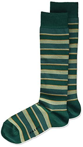 FALKE Unisex Kinder Mixed Stripe K KH Socken, Grün (Emerald 7950), 27-30 (3-6 Jahre)