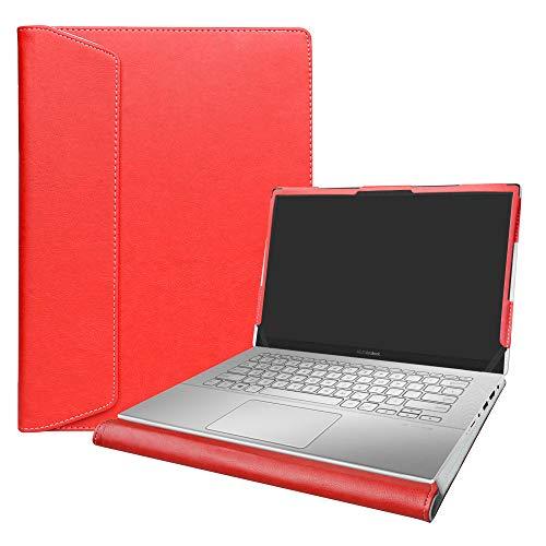 Alapmk Specialmente Progettato PU Custodia Protettiva in Pelle per 14' ASUS VivoBook X420UA / ZenBook 14 UX431FA (Non compatibili con: ASUS ZenBook UX430UA UX410UA / VivoBook 14 X411UF),Rosso