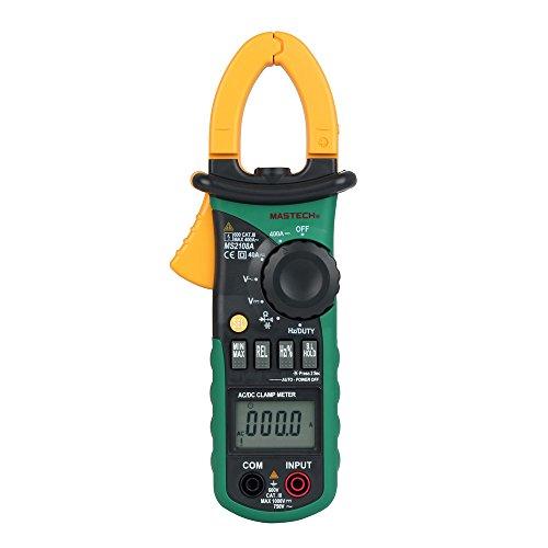 Mastech MS2108A - Pinza amperimétrica digital (retroiluminación, CA y CC, 4000 mediciones)