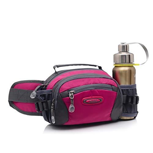Fusanadarn heuptas buitenshuis met flessenhouder voor waterflessen, multifunctioneel, reis-formaat, heuptas van nylon, waterdicht, voor wandelingen