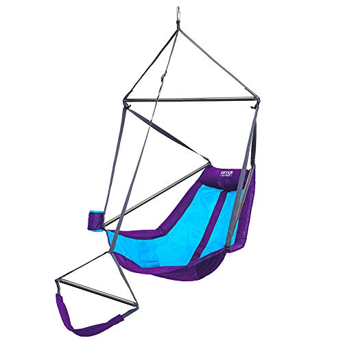 ENO, Eagles Nest Outfitters Lounger Hanging Chair, Purple/Teal