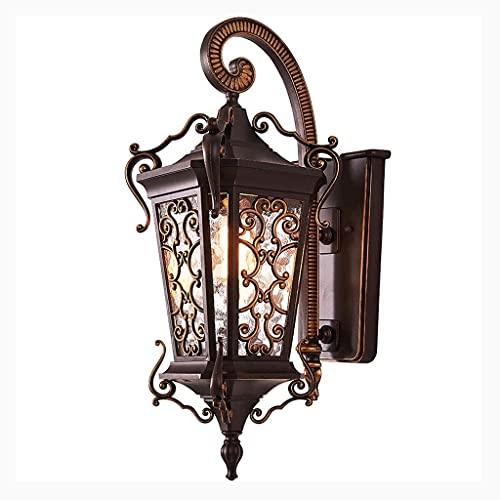 Lámpara de pared a prueba de polvo a prueba de agu E27 Luz de Pared Al Aire Libre Transpulsor Powered Clásico Estilo Europeo Montado Iluminación Iluminación Lámpara de jardín a prueba de agua Lámpara