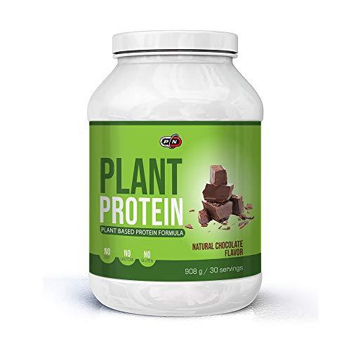 Pure Nutrition PLANT PROTEIN Pulver Eiweißpulver Blend Vegan 6 Pflanz Proteine Erbse Reis Kürbis Sonnenblume Hanf Carob 15 30 60 Portionen Natural Stevia No Soy Gluten Lactose Deutsche
