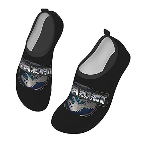 Jurassic Park - Zapatos de agua para hombre y mujer al aire libre, calcetines descalzos para la playa, correr, esnórquel, playa, natación, piscina, surf, yoga, ejercicio., color Negro, talla 38 EU