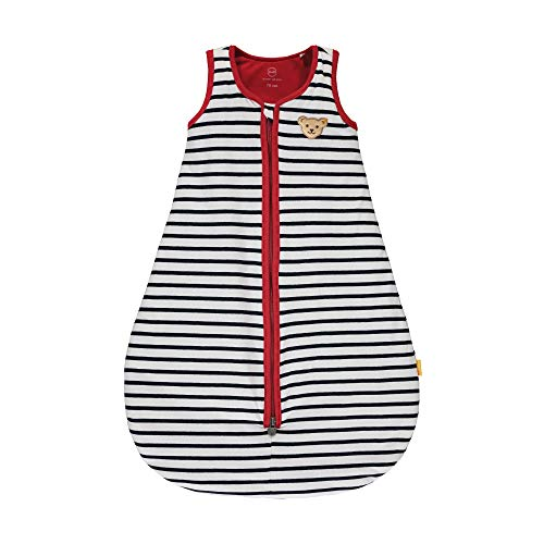 Steiff Baby-Mädchen mit süßer Teddybärapplikation Sweatshirt, Navy, 086