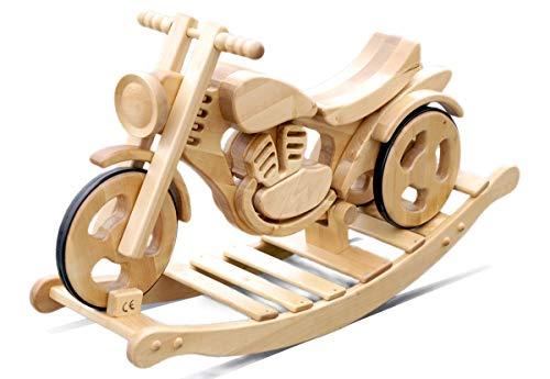 Schaukel-Motorrad Holzmotorrad Schaukelspielzeug Schaukel-Pferd Massivholz Garten Spielzeug Kinderspielzeug | Kinder 3-6 Jahre Alt Sprint