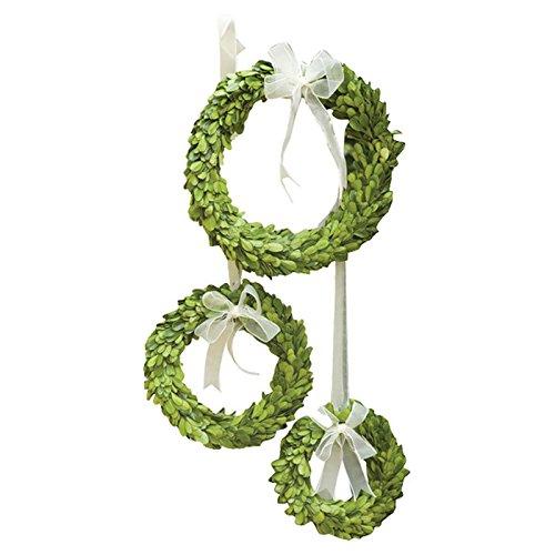 3 Piece Boxwood Wreath Set