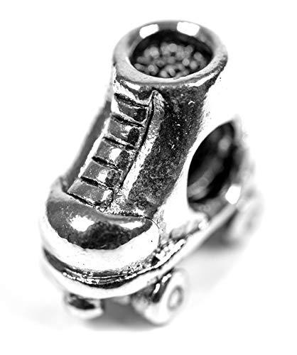 Beads Charms Schmuck Glasperlen Anhänger Unisex Zwischen-Element Retro Roll-Schuh Rollerblade Handbemalt