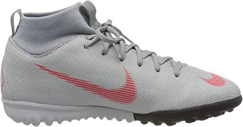 Nike Unisex-Erwachsene Mercurial SuperflyX VI Academy TF Futsalschuhe, Mehrfarbig (Wolf Grey/Lt Crimson/Pure Platinum 060), 38.5 EU